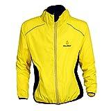 Herren-Sportjacke, atmungsaktiv, Regenjacke, Rain Coat Cycle Bike Fahrrad- Kleidung, Frankreich Tour schnelltrocknend, winddicht, mit langen Ärmeln, Jersey für Radfahren Größe S-3X L XXX-Large gelb
