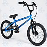 "Muddyfox Griffin 18"" BMX Bike with Stunt Pegs - Black and Blue - Boys - New Model - Online Exclusive!"