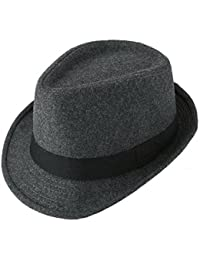 1daa049f05d FALETO Fedora Hat Trilby Hats Cotton Blended Panama Sun Jazz Cap for Mens  Womens