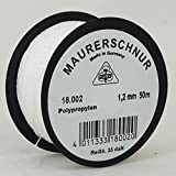 HaWe Maurerschnur Polypropylen, 50 m x 1, 2 mm, weiß, 18.002