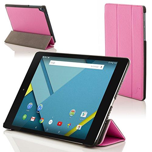ogle Nexus 9 8.9 Zoll Hülle Schutzhülle Tasche Bumper Folio Smart Case Cover Stand - Rundum-Geräteschutz und intelligente Auto Schlaf/Wach Funktion (ROSA) ()