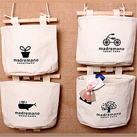 Haodasi Handmade Waterproof Canvas sac de rangement Storage Bag Pouch Sac suspendus Bedside Wall