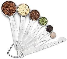 Cucharas medidoras,Wuudi 304 acero inoxidable para medir líquidos y los ingredientes secos
