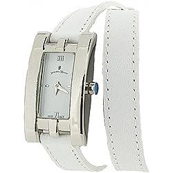 Jacques Du Manoir Ladies White Dial & White Extra Long Multi-Wrap Strap Watch