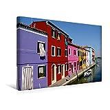 Calvendo Premium Textil-Leinwand 45 cm x 30 cm Quer, Burano | Wandbild, Bild auf Keilrahmen, Fertigbild auf Echter Leinwand, Leinwanddruck Orte Orte