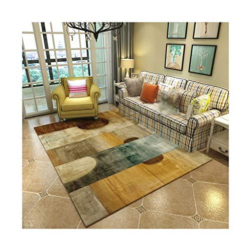 GZP Teppiche Rechteckiger Teppich American Home Wohnzimmer Couchtisch Teppich Einfache Europäischen Teppich Schlafzimmer Anti-Slip Mat Decke (Farbe : C, größe : 180cm*280cm) -