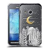 Head Case Designs Halbmondförmiger Mond Einsamkeit Soft Gel Hülle für Samsung Galaxy Xcover 3