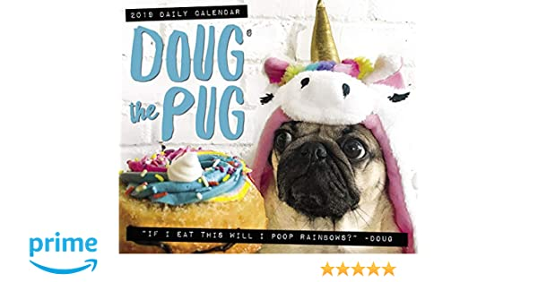doug the pug 2019 box calendar dog breed calendar