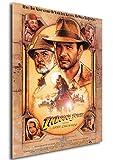 Poster Indiana Jones e L'Ultima Crociata Vintage Locandina - Formato (42x30 cm)