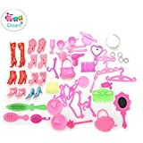iDream Doll Accessories Shoes Bag Mirror Hanger Comb Bracelet for Dolls Toys Child Gifts - Set of 50