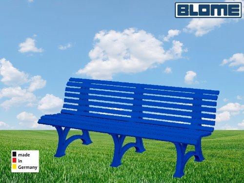 Parkbank Borkum blau Blome 4-Sitzer