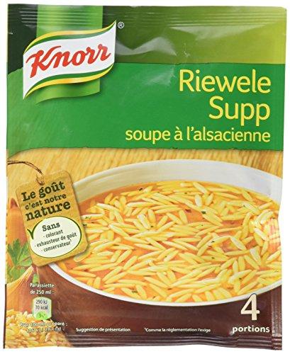 Knorr Riewele Supp Soupe à l'Alsacienne pour 4 Personnes 12 x 74 g