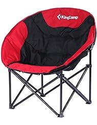 Kingcamp–Silla de camping & trekking satélite–76* 50* 50cm–Estructura en acero y textil impermeable–carga hasta 120kg–Bolsa de transporte incluido–color red