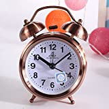 Despertador Classic Retro Vintage Silent Night LED Light Bell Alarm Clock Cuarzo Movement Home Lazy...
