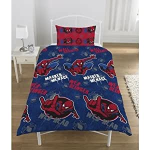 ensemble de literie le spider man pour enfants gar ons comprenant housse de couette lit simple. Black Bedroom Furniture Sets. Home Design Ideas