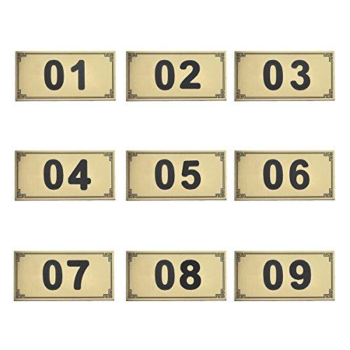 Aspire 25PCS Tür Zahlen/Spind Zahlen, selbstklebend Tag, ABS, goldfarben, 26to50