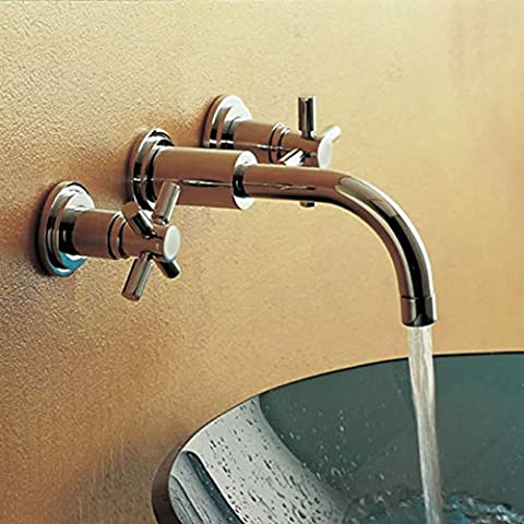 Hudson Reed Waschtischarmatur - Tec Kreuzkopf - modernes Design- 3-Loch