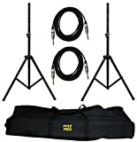 #10: PylePro PMDK102 Dual Speaker Stand and 1/4 inch Cable Kit, Black