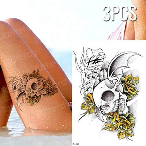 Handaxian 3 stück/Batch Tattoo Aufkleber Fisch Lotus körper Tattoo wasserdicht Tattoo mädchen Bikini Oberschenkel Tattoo 3pcs-21