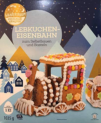Grosse Lebkuchen Eisenbahn 850gr (Hexenhaus Wintertraum Lebkuchenhaus)