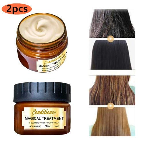 Advanced Molecular Hair Root Treatment Hair Mask, Natural Botanical Argan Oil Care Hair Refining Serum - Deep Conditioner Suitable for Dry and Damaged Hair (2pc-b)