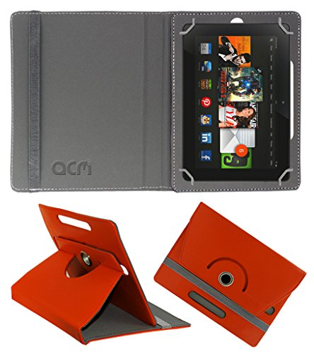 Acm Rotating 360° Leather Flip Case for Amazon kindle Fire Hdx 8.9 Cover Stand Orange  available at amazon for Rs.179