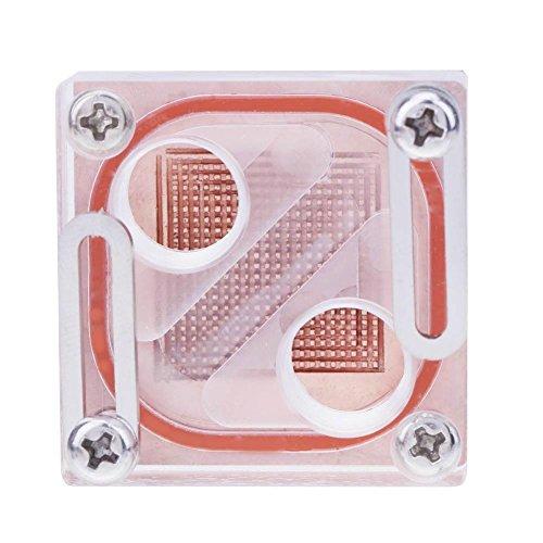 prettygood7Acryl Transparent Allgemeine Northbridge Kühler Computer Wasserkühlung (Northbridge-kühler)