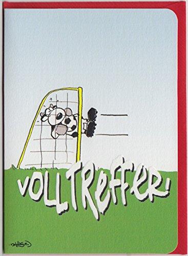 Geburtstagskarte Fussball witzig Volltreffer