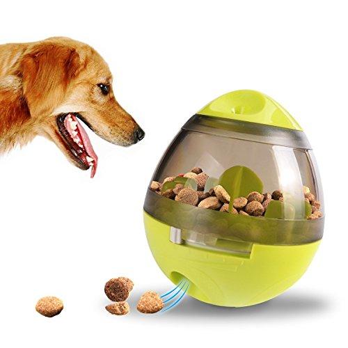 Produktbild bei Amazon - ALAMP Hundespielzeug Ball Interaktives Hundespielball Leckerli-Spender Snackball gegen Langeweile für Hunde und Welpen