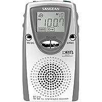 Sangean DT-210 - Radio portátil LCD, plateado
