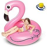 Kyerivs Flotador inflable de la piscina del flamencos el anillo de la natación del aire de la estera del Sunbathe