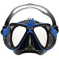 VILISUN Gafas/Máscara de Buceo y Snorkeling para Cámara GoPro,Anti-niebla y Anti-fugas Vidrio Templado, Unisex, Color Azul, Talla única