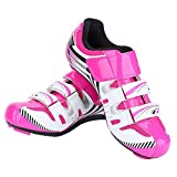Cycling Shoe,1 Pair Women Cycling Spinning Shoes with Durable Rivets for Indoor Cycling
