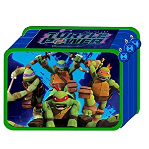Estuche Triple 3 bisagras Teenage Mutant Ninja Turtles TORTUGAS Ninja con colores y accesorios Escuela 45 pezzi22
