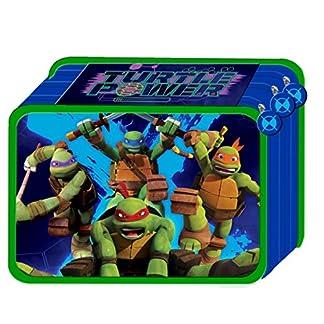 Estuche Triple 3bisagras Teenage Mutant Ninja Turtles TORTUGAS Ninja con colores y accesorios Escuela 45pezzi22