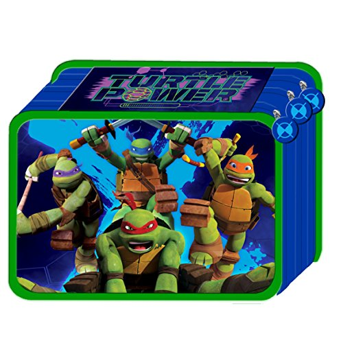 Astuccio triplo 3 cerniere teenage mutant ninja turtles tartarughe ninja con colori e accessori scuola 45 pezzi22