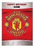 Personalisierter Manchester United Fußballmannschaft Geburtstagskarte - zusätzlich Name