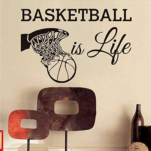 l Ist Leben Wandtattoos Sport Fans Vinyl Abnehmbare Wohnkultur Basketball In Den Korb Wandaufkleber Für Jungen 78 * 50 Cm ()