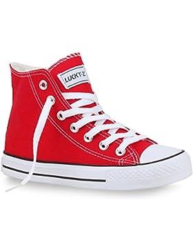 Damen Herren Unisex Sneaker High Schnürer Denim Sneakers Camouflage Sportschuhe Turnschuhe Glitzer Stoff Schuhe...