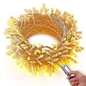 hayata 200 led batterie lichterketten 20m weihnachtsbeleuchtung mit fernbedienung timer. Black Bedroom Furniture Sets. Home Design Ideas