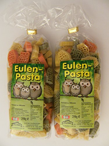 e Eulen aus Nudelteig, 2X 250 g, Nudeln, Pasta, Dekoration, Delikatesse, Tiere, Eule, Vogel ()