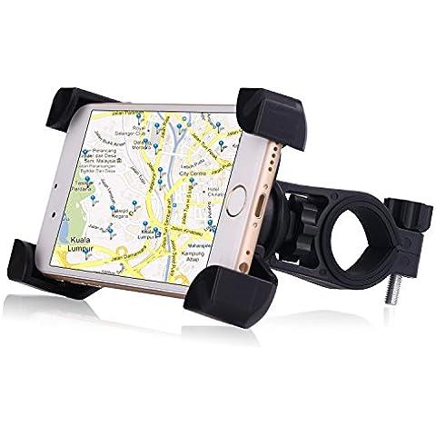 Soporte para bicicleta, dtrigigo Universal del teléfono celular manillar de la bicicleta y motocicleta soporte soporte con 360rotación para iPhone 6S, 6, 5S 5C 5, Samsung Galaxy S6S7S5S4S3A9A7Nota 5Nota 4Nota 3, Google Nexus 54, Moto X Pro G4Plus, HTC uno X, Huawei P9y dispositivo GPS, color