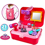 #5: Beauty Make Up and Cosmetic Set Back Pack with 21 Pcs Makeup Accessories for Children Girls
