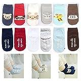 (6 unidades) de Animal Calcetines de bebé Niños Niñas Antideslizante Grips calcetines edad 12 - 24 meses