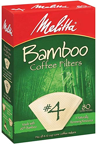 Melitta 63118 #4 Bamboo Filters 80 Count by Melitta