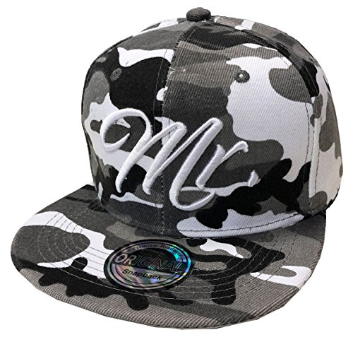 #Mr. & Mrs. SNAPBACK Set USA Cap Kappe Basecap Mütze Trucker Cappy Kult Partner Look (Mr. Camou Grau)#