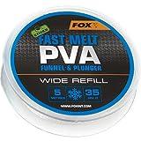 Fox Edges PVA Mesh Refill Fast Melt 5m - PVA-Schlauch Mesh System, wasserlösliches Netz Zum...