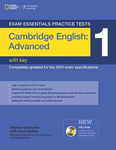 Exam Essentials: Cambridge Advanced Practice Tests 1 W/Key + DVD-ROM