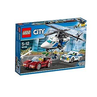 LEGO City Police – Persecución por la Autopista, Set de Construcción de Policia, Incluye Helicóptero y Coche Deportivo de Juguete (60138)
