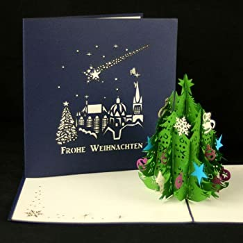 Tannenbaum Aachen.Weihnachtskarte Tannenbaum Aachen Frohe Weihnachten Rot